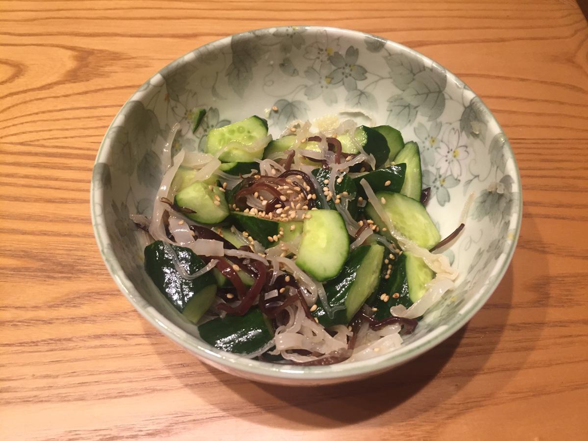 きくらげ料理(浅漬け)
