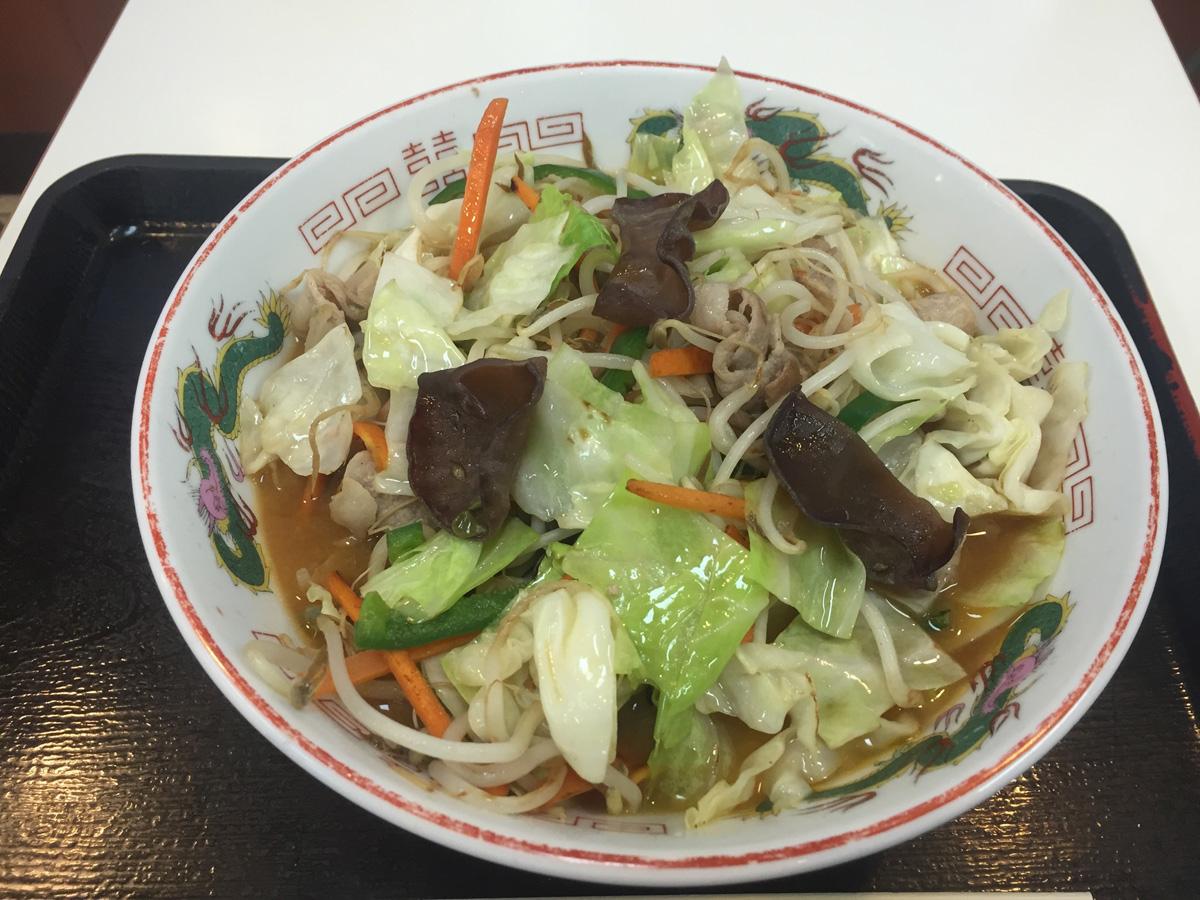 きくらげ料理(味噌ラーメン)