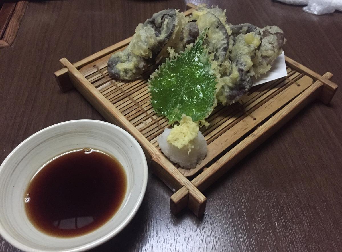 きくらげ料理(きくらげの天ぷら)